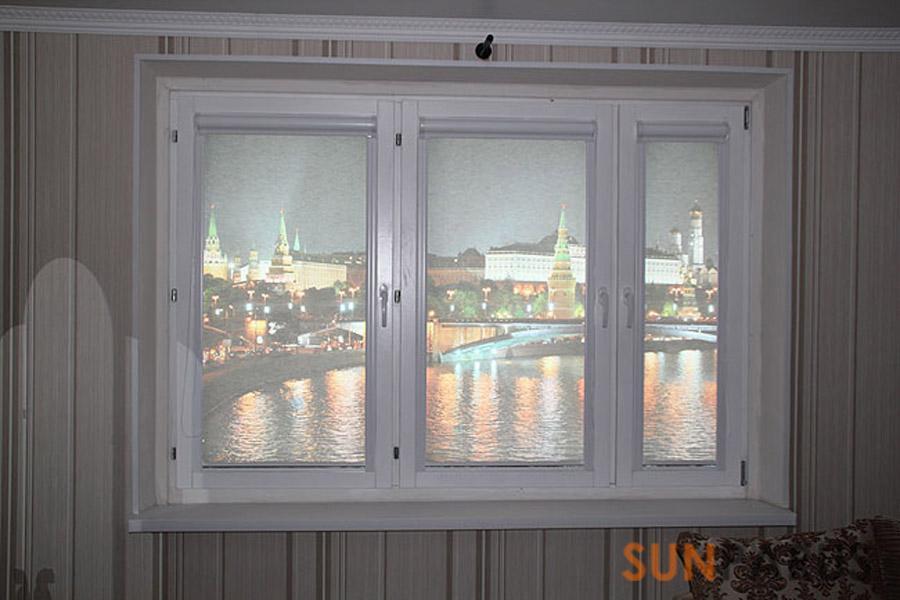 Рулонно-кассетные шторы на пластиковые окна своими руками